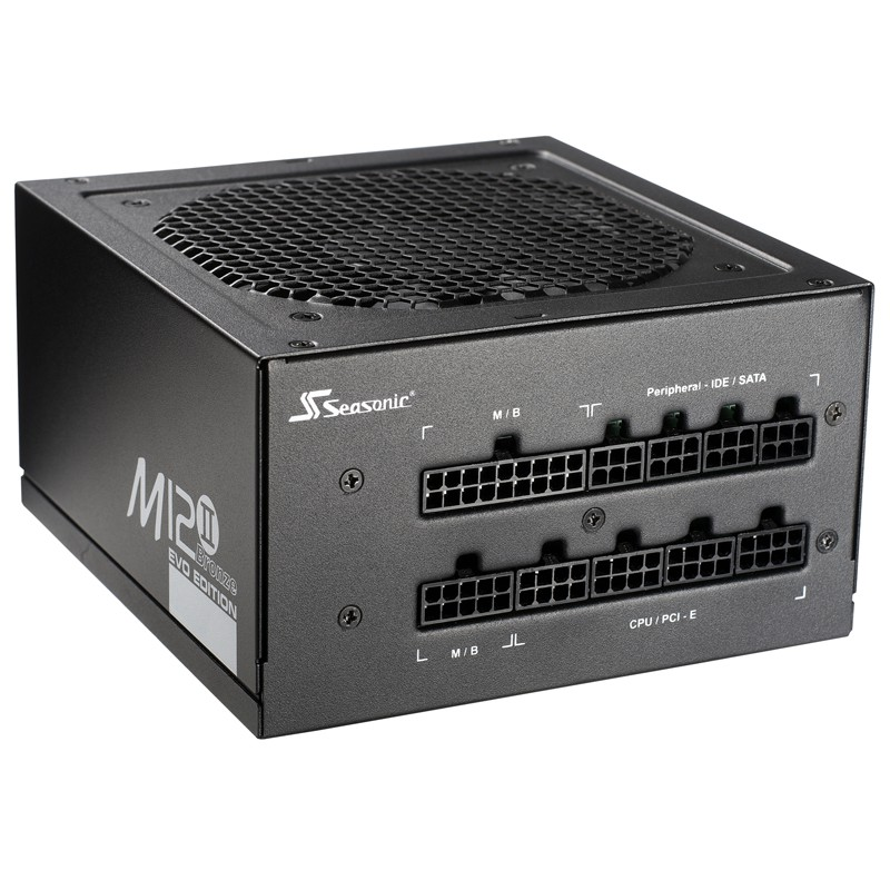 Блок питания 520W Seasonic M12II-520 Evo (SS-520GM2) Bronze (120мм, 24+8pin, 2х6/8pin, 5xMolex, 6xSATA, 80Plus Bronze, APFC)