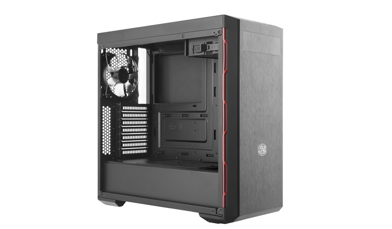Корпус Cooler Master MasterBox B600L (MCB-B600L-KA5N-S00) Black/Red (Miditower, ATX, USB3, Fan, Window)