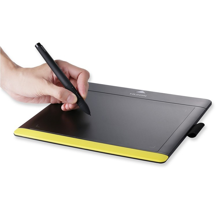 Графический планшет Huion 680TF Black/Yellow (203x152мм, 5080lpi, 2048 уровней, 220 PPS, USB)