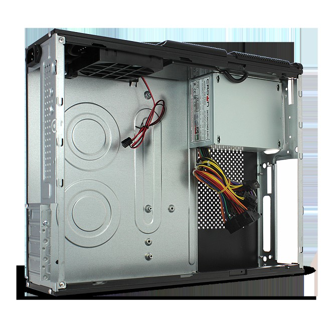 Корпус Crown Micro CMC-1907 ITX 300W Desktop ICL black