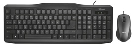 Клавиатура+ мышь Trust Classicline Wired Keyboard with mouse 21909 (Проводная, USB)