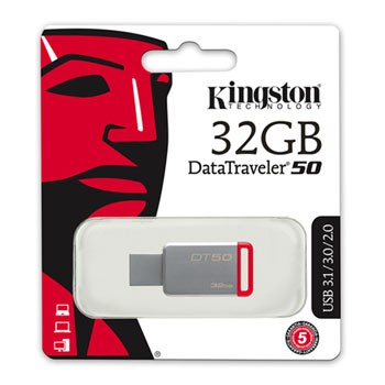 USB flash disk 32Gb Kingston DataTraveler 50 DT50/32GB (USB 3.1)