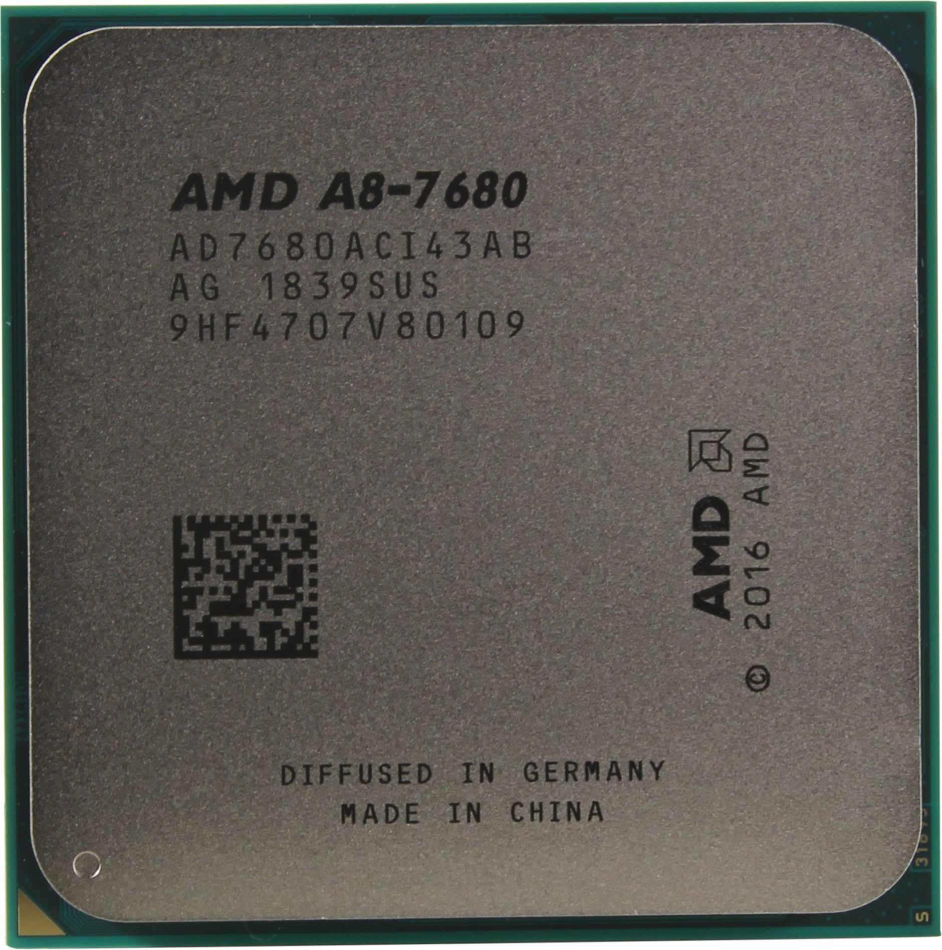 Процессор AMD A8-7680 (BOX) (AD7680ACABBOX) 3.5(3.8)GHz, 4 ядра / 4 потока, 2Mb, Radeon R7, 45W (Socket FM2+)