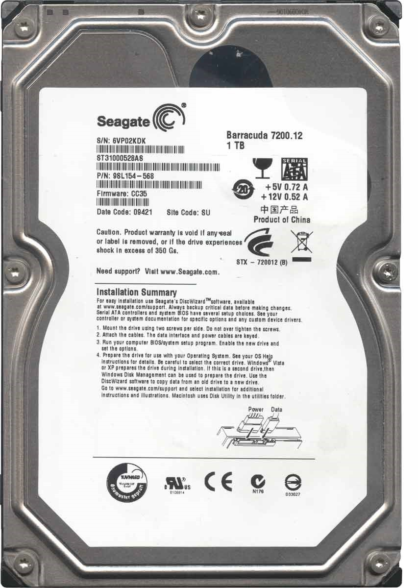 Жесткий диск 1Tb Seagate Barracuda (ST31000528AS) SATA-II 32MB 7200RPM