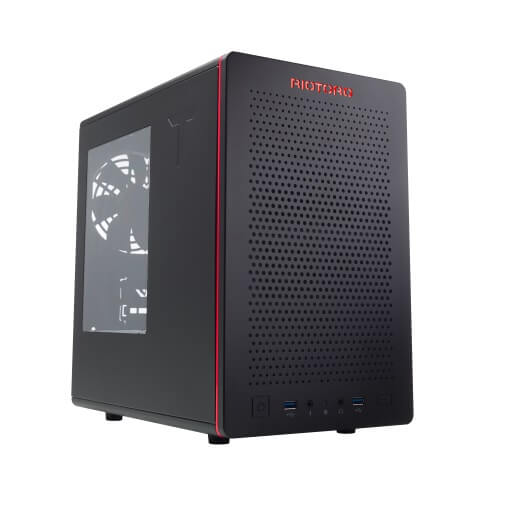 Корпус Riotoro CR280 (MiniITX, Window, 2xFan, USB 3.0, без БП)