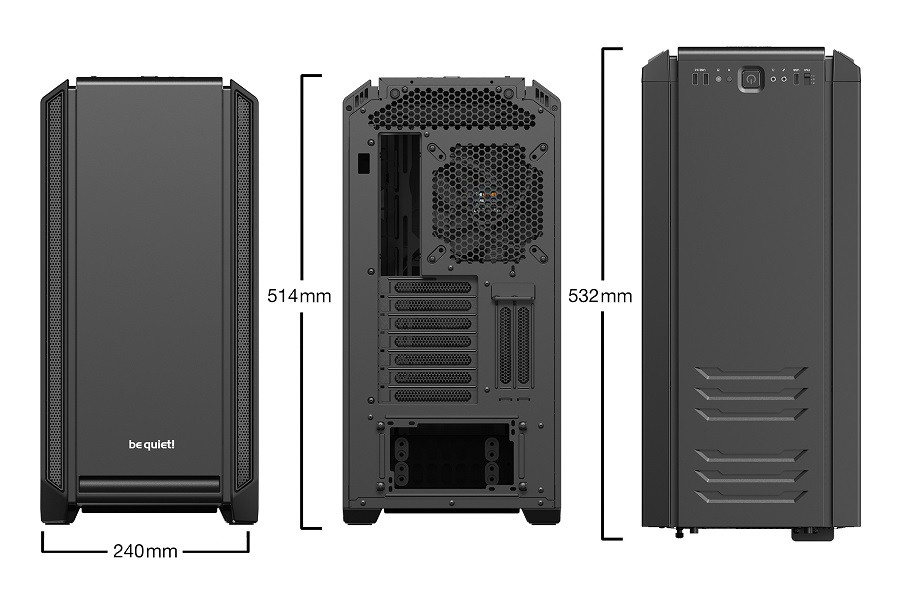 Корпус be quiet! SILENT BASE 601 BLACK (BG026) (Bigtower, E-ATX, 1xUSB 2.0, 2xUSB 3.0, 2xFan, без БП)