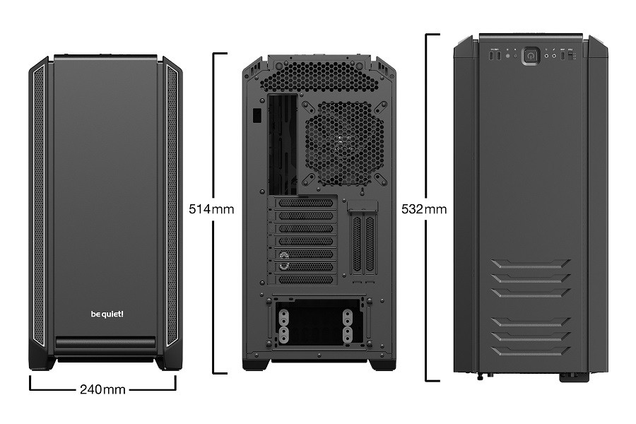Корпус be quiet! SILENT BASE 601 WINDOW SILVER (BGW27) (Bigtower, E-ATX, 1xUSB 2.0, 2xUSB 3.0, 2xFan, с окном, без БП)