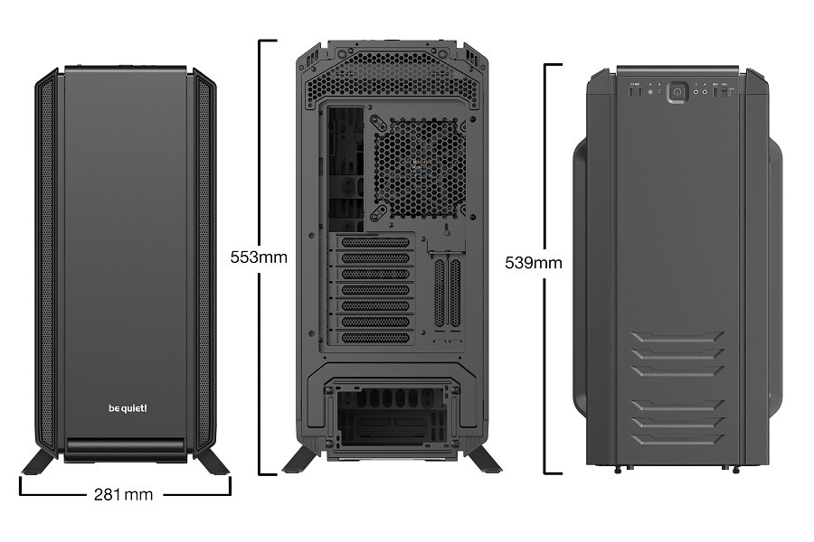 Корпус be quiet! SILENT BASE 801 BLACK (BG029) (Bigtower, E-ATX, 1xUSB 2.0, 2xUSB 3.0, 3xFan, без БП)