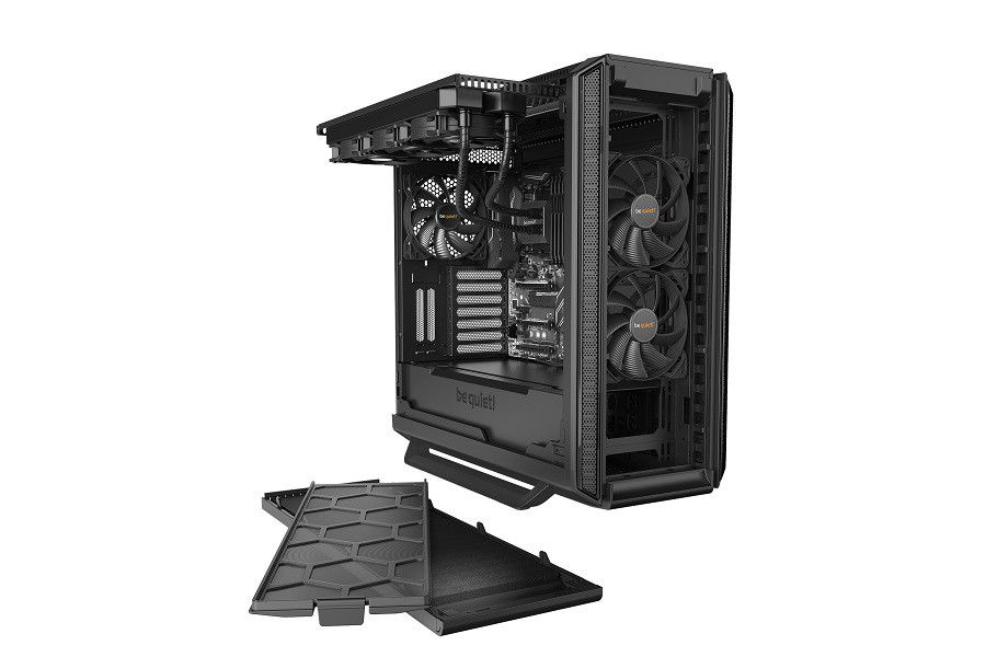 Корпус be quiet! SILENT BASE 801 WINDOW BLACK (BGW29) (Bigtower, E-ATX, 1xUSB 2.0, 2xUSB 3.0, 3xFan, с окном, без БП)