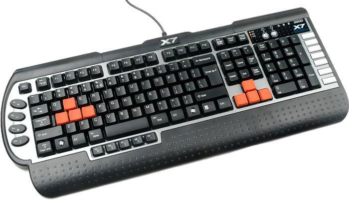 Клавиатура A4Tech X7 G800V Black/Gray USB, Multimedia GAMERS, Waterproof