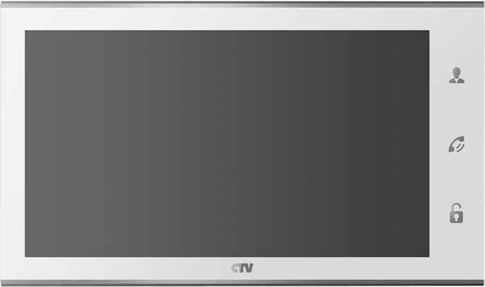 "Видеодомофон CTV CTV-M2101 White (цв. 10"" 1024 х600, Hands free, Touch Screen Easy buttons, microSD, дет.движ)"
