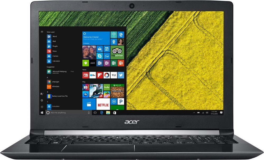 "Ноутбук Acer Aspire A515-51G-56MR (NX.GVLEU.050) Black 15.6"" (1920x1080)/ Core i5-7200/ 8Gb/ 1Tb/ GeForce MX 130 2Gb/ Linux"