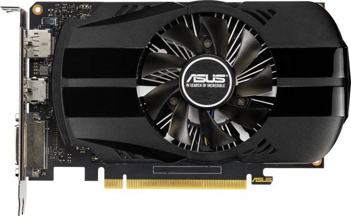 Видеокарта 1650 Asus PH-GTX1650-O4G 4Gb DDR5 128bit 1485(1710)/8002MHz