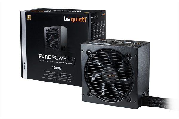 Блок питания 400W be quiet! Pure Power 11 400W (BN292) (120mm, 24+8pin, 2x6/8pin, 2xMolex, 5xSata, 80+ Gold) Retail