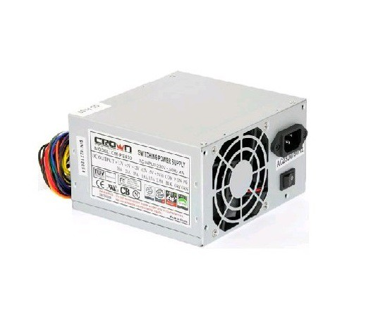 Блок питания 400W Crown Micro CM-PS400W (80mm, 24+4pin, 3 Molex, 2 SATA)