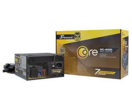 Блок питания 650W Seasonic CORE GC-650 Gold (SSR-650LC) (120mm, 24+8pin, 4x6/8pin, 3xMolex, 6xSATA, 80+ Gold)