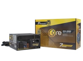 Блок питания 650W Seasonic CORE GM-650 Gold (SSR-650LM) (120mm, 24+8pin, 4x6/8pin, 3xMolex, 6xSATA, 80+ Gold, Semi-modular)