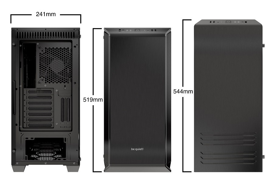 Корпус be quiet! DARK BASE 700 BLACK (BGW23) Black (Bigtower, RGB, EATX, 2xFan, USB 3.1 TypeC, с окном, без БП)