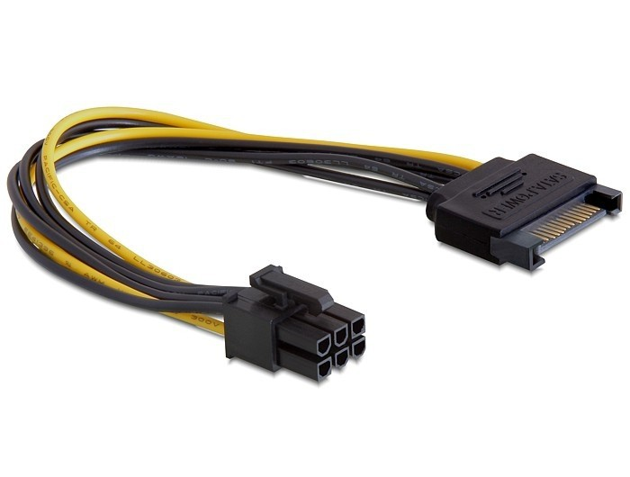 Кабель Cablexpert CC-PSU-SATA (6 pin for PCI-Express)