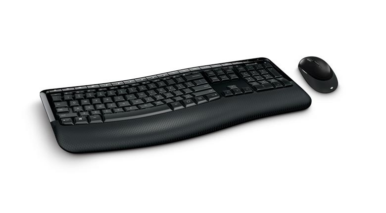 Клавиатура+ мышь Microsoft Wireless Comfort Desktop 5050 (PP4-00017) Black