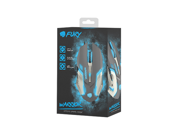 Мышь Fury Warrior (NFU-0869) 3200dpi Illuminated Black