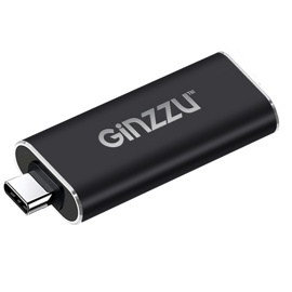 Переходник GINZZU GC-870HC Black (USB Type-C 3.1 (папа) -> HDMI (мама) до 4K, металл)