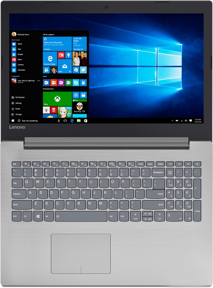 "Ноутбук Lenovo Ideapad 320-15IKB (80XL00KPRU) Grey 15.6"" (1920x1080)/ Core i7-7500U/ 8GB/ 256Gb + 1Tb/ GeForce 940MX 2Gb"