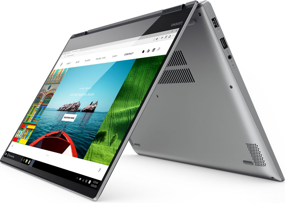 "Ноутбук Lenovo Yoga 720-15IKB (80X700B6RU) Grey 15.6"" (1920x1080) сенсорный/ Core i5-7300HQ/ 8Gb/ 256Gb SSD/ GeForce GTX 1050 2Gb/ Windows 10"