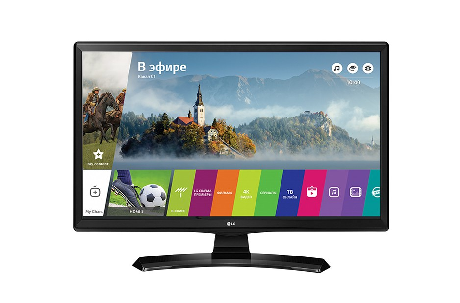 "Телевизор 28"" LG 28MT49S-PZ Black (1366x768, VA, Smart TV, Wi-Fi)"
