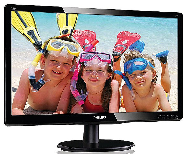 "Монитор 21.5"" Philips 226V4LAB/00 Black (1920x1080, TN+Film, DVI, D-Sub (VGA))"