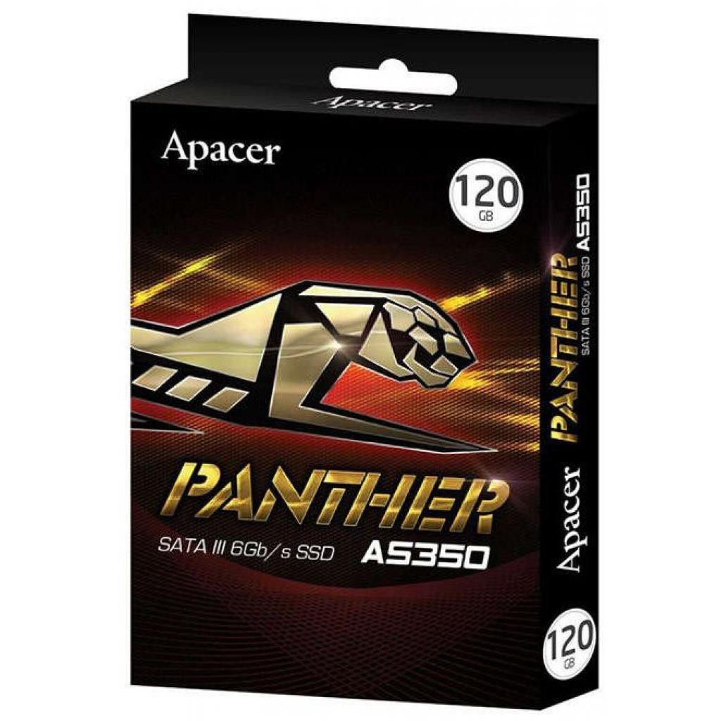 Жесткий диск SSD 120Gb Apacer Panther AS350 (AP120GAS350-1) (SATA-6Gb/s, 2.5