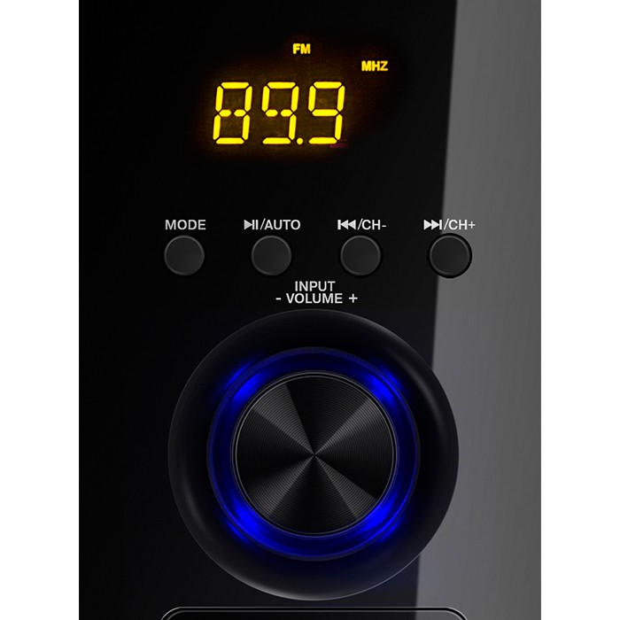 Акустическая система 2.1 Sven MS-2050 Black (2x12.5W+30W, Bluetooth, FM, USB, SD, LED, пульт ДУ)